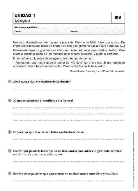 anaya cuarto de primaria evaluaciones 4 186 ep anaya lengua