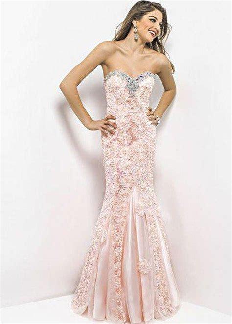 peach mermaid prom dress