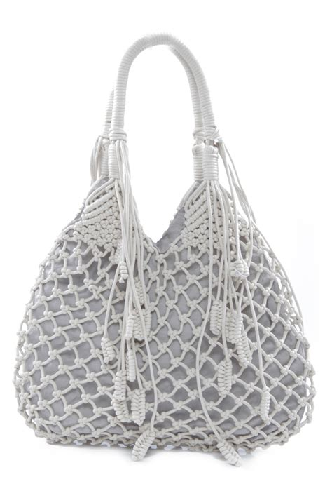 Macrame Bag Sale - monserat de lucca macrame bag from houston by 224 bient 244 t