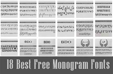 Free Monogram Font Types For Logo And Wedding Initials Best Fonts For Initials