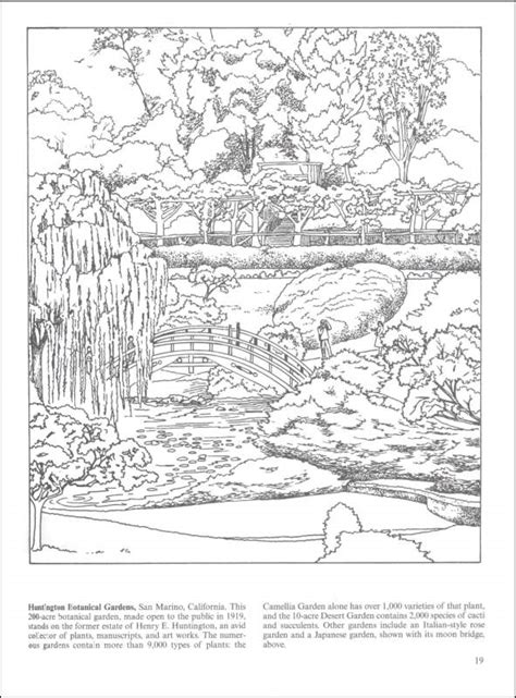 coloring pages of garden scene free coloring pages of nature scene