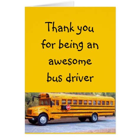 bus card template bus driver greeting card zazzle