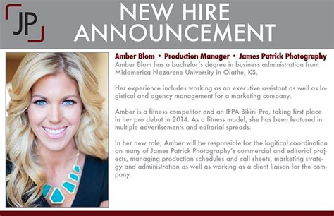 New Employee Announcement by New Team Members Photography