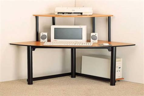 Casual Modern Corner Computer Desk Without Storage Corner Modern Desks For Small Spaces