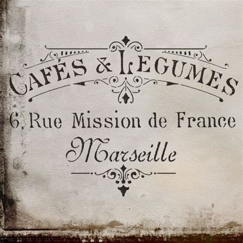 cafe de paris rustic french cottage style old wood wall vintage cafes legumes french stencil