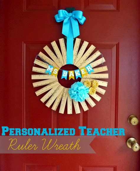 christmas craft ideas for teachers gift idea personalized ruler wreath