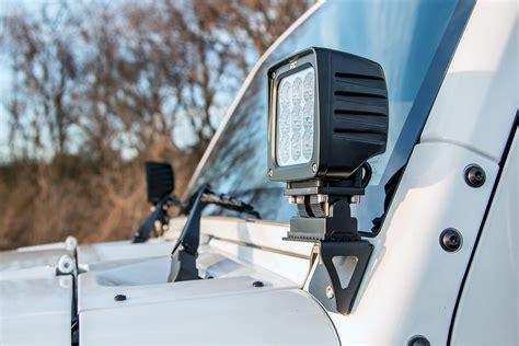 Jeep Wrangler Light Mounts Lower Windshield Light Mount For 07 17 Jeep Jk Wrangler
