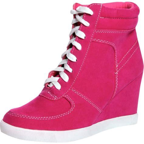 pink wedge sneakers pink sneaker wedges manhata