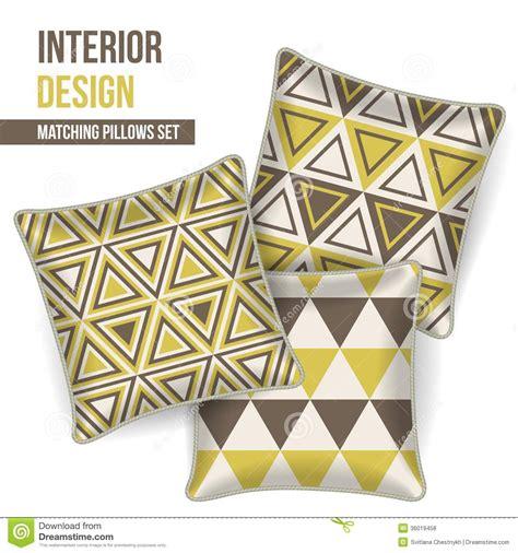 vector pattern matching set of decorative pillow vector illustration