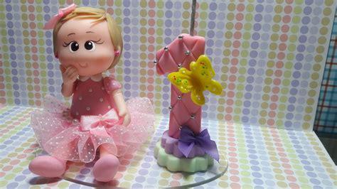 vela decorada jardim encantado bonequinha tema jardim vela donana artes elo7