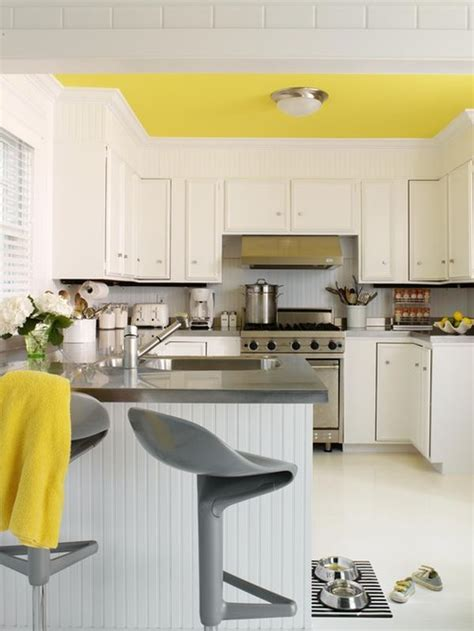 Yellow Walls Grey Cabinets Decorating Yellow Grey Kitchens Ideas Inspiration