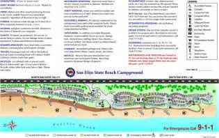 Carlsbad State Beach Campground Map by San Elijo State Beach Maplets