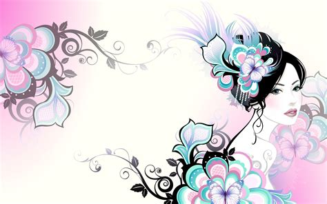 wallpaper vector girl girls vector art walldevil