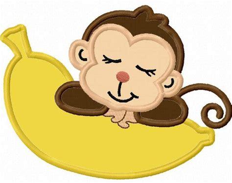 monkey applique sleep monkey applique machine embroidery design no 0018