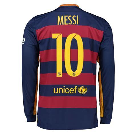 Jersey Sepakbola Barcelona L 10 Messi 121 49 nike fc barcelona messi 10 15 16 sleeve home soccer jersey loyal blue