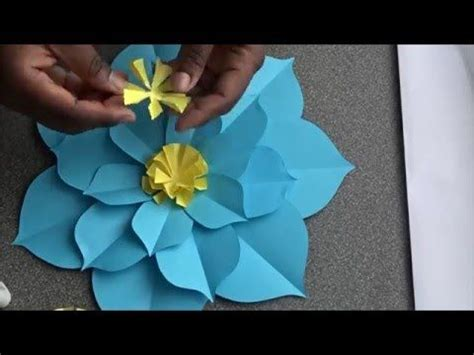flat paper flower tutorial how to make a flat giant paper flower how to make paper