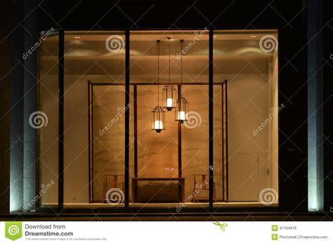 led light window display home furnishing shop display window with led chandelier