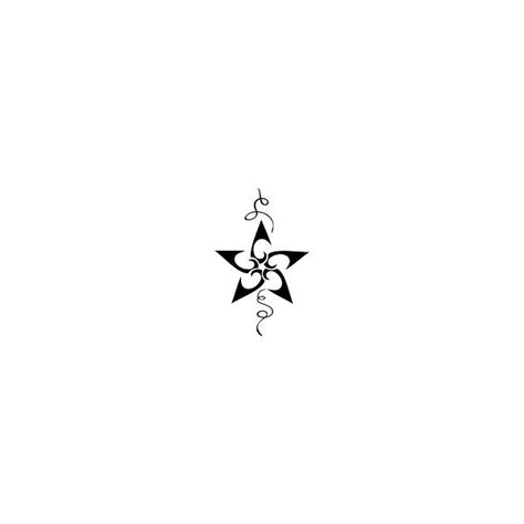cool small star tattoo design