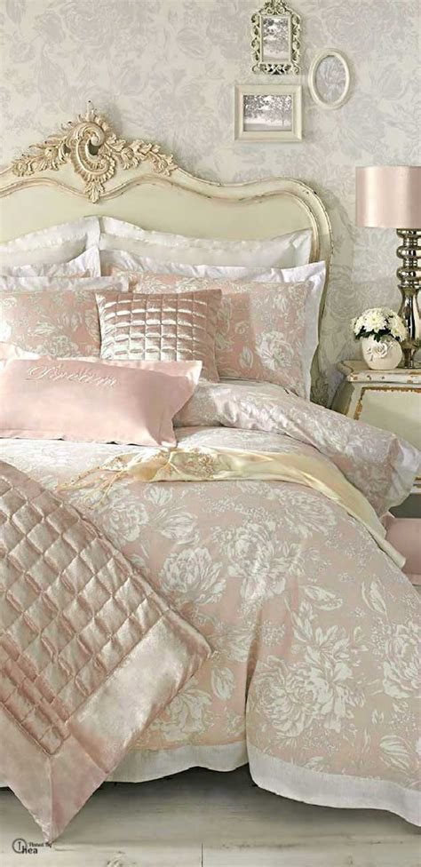 shabby chic comforter vintage bedroom design with