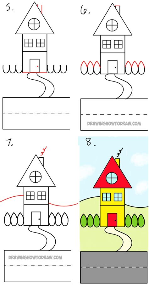 how to draw a house step by step how to draw a house step by step easy www pixshark com images galleries with a bite