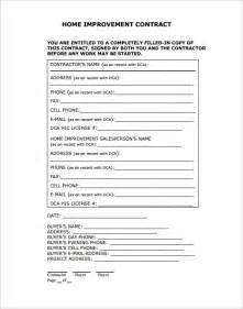 Remodeling Contract Template by Home Remodeling Contract 10 Free Documents In Pdf