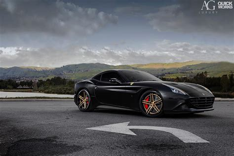 ferrari california stunning black ferrari california t with ag luxury wheels