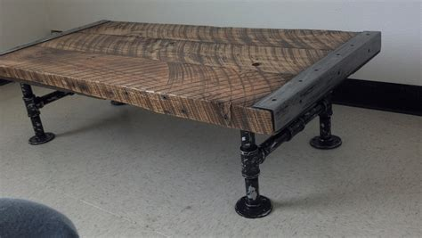 industrial coffee table century barnwood distressed