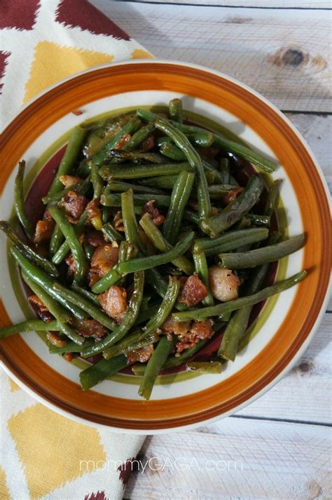 bacon and green beans saute side dish yum perfect for thanksgiving and christmas dinner