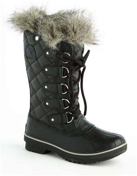 sorel tofino boot sorel tofino furlined boots in black lyst