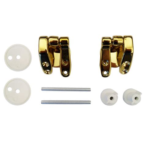 brass toilet seat hinge replacement universal brass hinge set for wooden toilet seats at