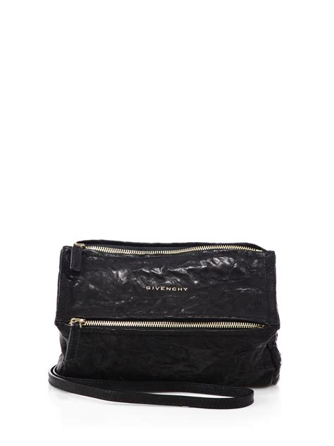 givenchy pandora mini pepe leather shoulder bag in black