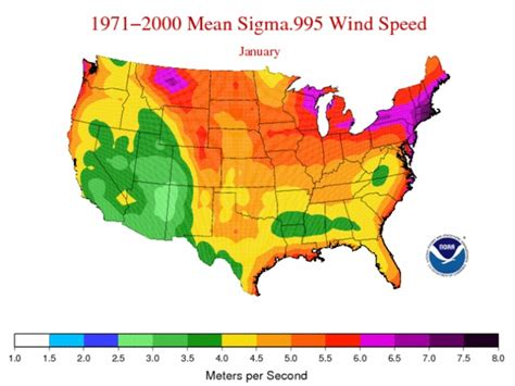 us design wind speed map average wind speeds map viewer noaa climate gov