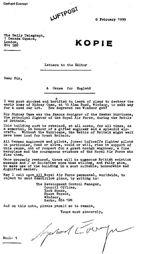 Recommendation Letter Format For Deck Cadet the alma road car park caign story sir sydney camm thamesweb information