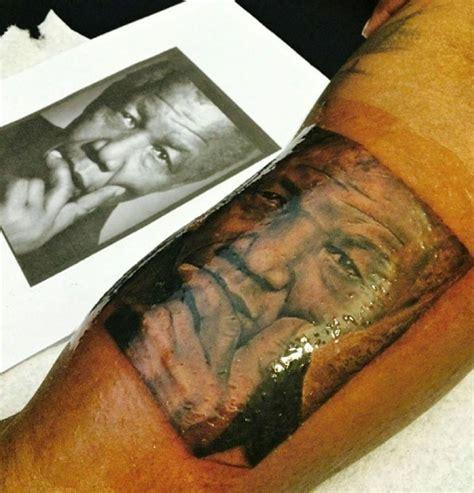 nelson mandela tattoo award winning tattoo artist cj mccaskill sets up shop in