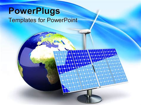 Powerpoint Template Alternative Energy Depiction With Solar Panel And Earth Globe 26752 Energy Powerpoint Template
