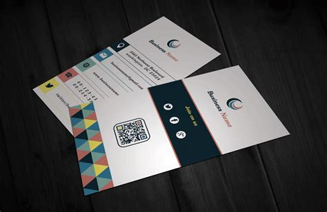 Modern Business Card Template Vertical by Modern Retro Vertical Business Card Template Free