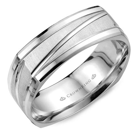 men s modern wedding band crown ring collection the