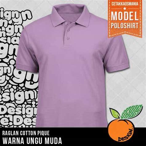 Polo Kaos Family Ungu 4pcs Kaos Polo Kerah Polos Dengan Bahan Cotton Combat Pique