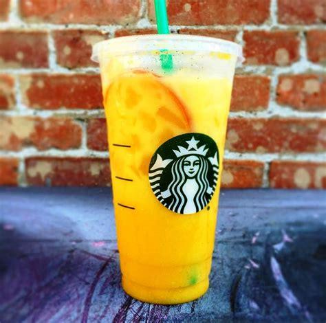 colorful starbucks drinks starbucks orange drink is instagram s newest secret menu