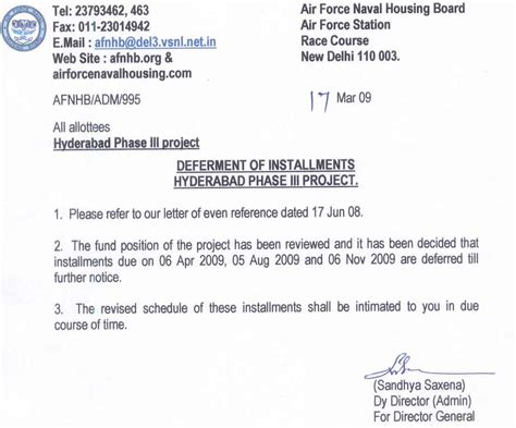Loan Deferment Letter Sle Letter Of Deferment