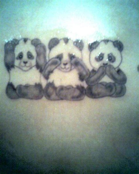 evil and love tattoo panda idea my pandas i like ink