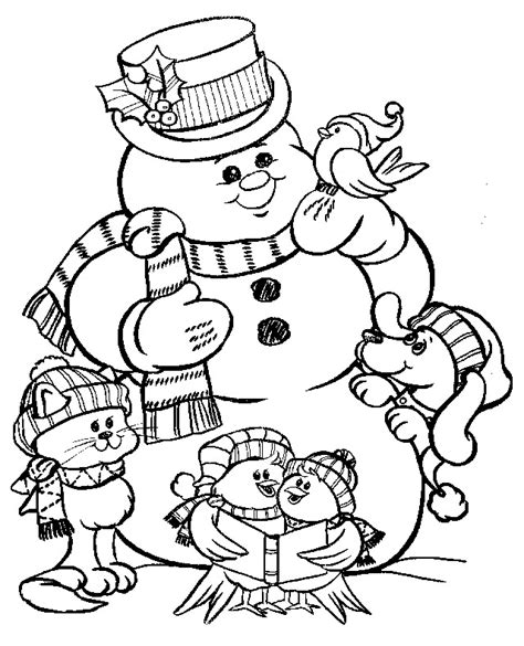 coloring christmas snowman coloring pages 24