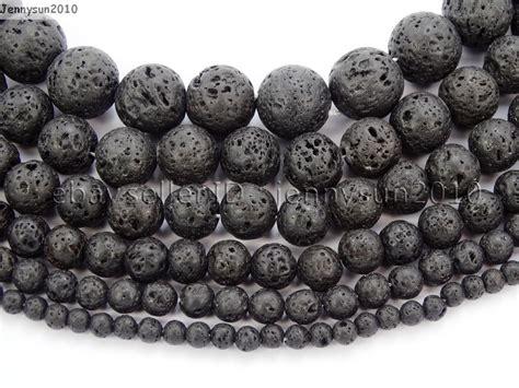 Gelang Lavastone 10 Mm 4 black volcanic lava gemstone 15 5 4mm 6mm 8mm 10mm 12mm jennysun2010
