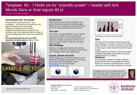 design poster header ppt template a0 119x84 cm for scientific poster