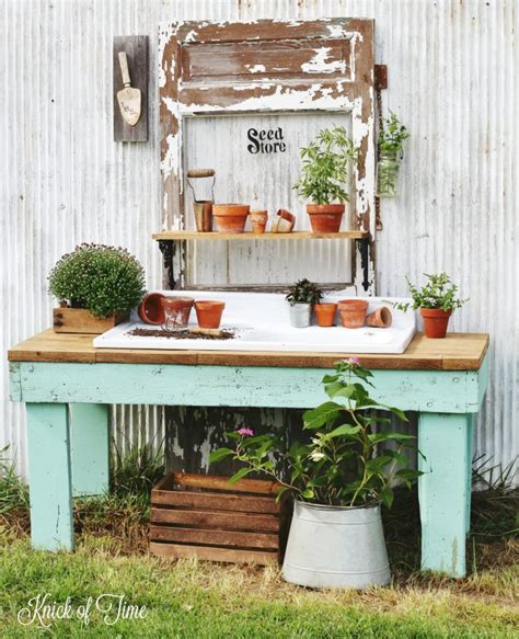 antique potting bench potting bench from old work table reveal knick of time