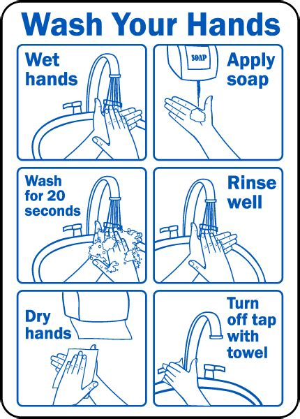 bathroom signs wash your hands wash your hands instruction label by safetysign com d5817
