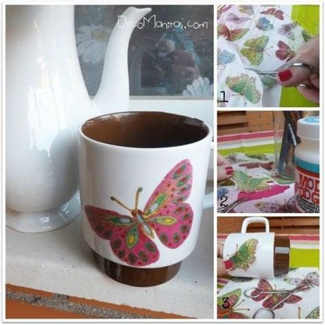 decorar muebles con servilletas decoupage con servilletas de papel c 243 mo decorar tazas