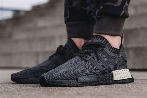 adidas nmd r1 primeknit in black and sesame hypebeast