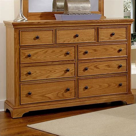 Bb75 002 Vaughan Bassett Furniture Forsyth Medium Oak Medium Oak Bedroom Furniture