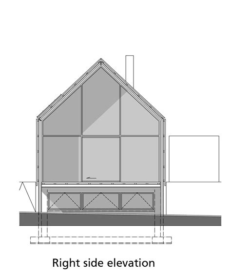 side elevation the barn house by buro ii housevariety